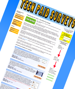 Teen Paid Surveys - Paid Survey Hints and Tips - Teen Paid Surveys